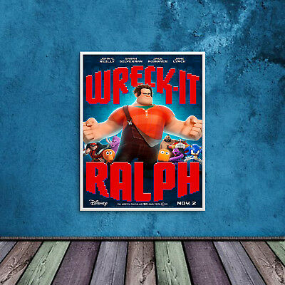 Wreck It Ralph Print Poster WallArt A6 A5 A4 A3 Pixar Films Cinema Disney - 1022