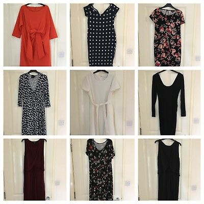 Maternity dress size 10/12 bundle - x9 day / work dresses - ASOS / new look