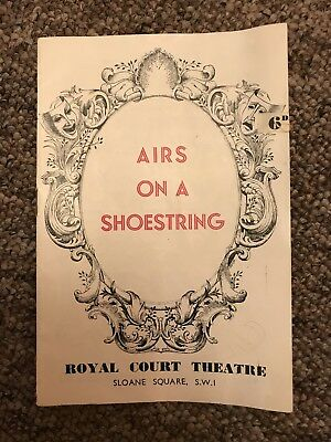 """Original 1959's Royal court theatre Programme Of """"Airs On A Shoestring"""""""
