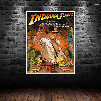 Indiana Jones Print Poster WallArt A6 A5 A4 A3 Harrison Ford Movie Films - 1024