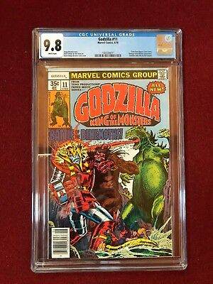 Godzilla #11 CGC 9.8 WP (Marvel) Dum-Dum Dugan Yetrigar Red Ronin Monster Action
