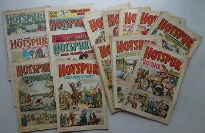 Hotspur Comic 1962-1967 X 19 Most Good/very Good Condition