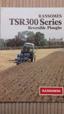 Ransomes TSR300 Series reversible plough and Ford tractor brochure