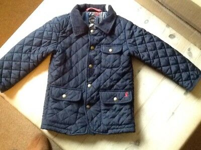 joules boys navy quilted coat age 3 years