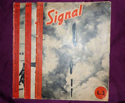 Signal magazines, German/Italian edition (D/I), 1940 Nrs 4, 5 and 6