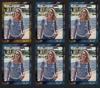 ANDREA-UNSUNG HEROES-WAVE 3-GOLD+5x BLUE-TOPPS WALKING DEAD CARD TRADER