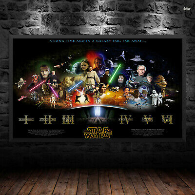 Star Wars Timeline Print Poster Wall Art Films Movie Lucasart A6 A5 A4 A3 - 1029