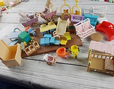 Sylvanian Families Nursery and Children Room Furniture Spares Bundle