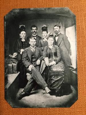 LtoR back- Big nose Kate, Doc Holliday, Wilhelmina Museum Quality tintype C073RP