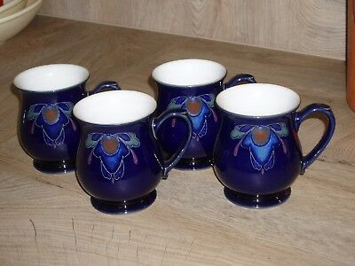 Denby Baroque Colonial Mugs - set of 4 Excellent condition