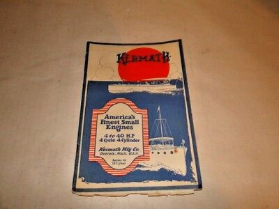 Original Kermath Boat Motor CATALOG Series 12 Contains 28 pages 1921 Price List