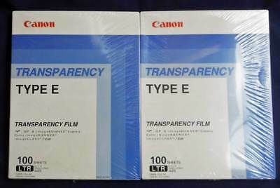 "2 boxes of Canon Transparency Film 100 Sheets each box Type E  8.5"" X 11"" sealed"
