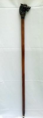 Vintage cane. walking stick lion-head antique rare original beautiful gift ff.