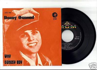 "DONNY OSMOND / THE OSMONDS Why Lonely EP 7""/45 ANGOLA 1973 MEGARARE"