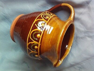 Small brown jug by Anglesey Pottery