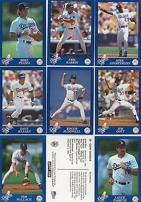 Los Angeles Dodgers 1993 Complete set Police Department Baseball cards