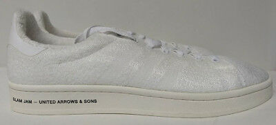 premium selection 5fcd6 d4ac8 Adidas Campus SE SLAMJAM Size 10 United Arrows Sons White Mens Shoe BB6449