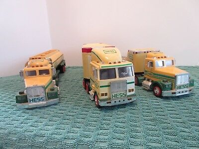 Three Hess Trucks 1990,1991, And 1997 As Is