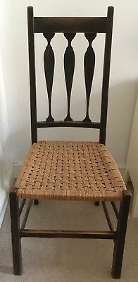 Chair: Arts and craft / Colonial style arrow back chair, woven reed