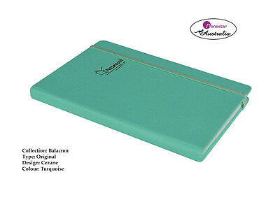 Balacron Leather Hard Cover A5 Lined Paper, Journal Notebook, Cezane Turquoise