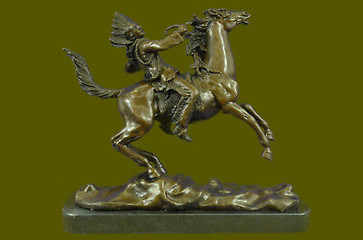 Carl Kauba Large Mounted Indian Chief Home Office Cabin Deco DB Sculpture Statue