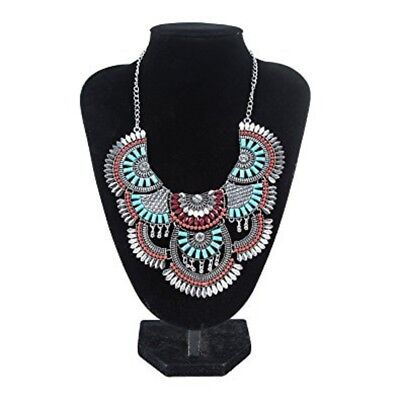 Necklace Vintage Alloy Antique Silver Bohemian Statement Ethnic Tribal African