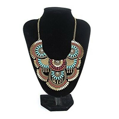 Necklace Vintage Alloy Antique Gold Bohemian Statement Ethnic Tribal African