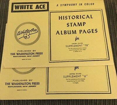 WHITE ACE HISTORICAL Stamp Album Pages For Quadrille Blank