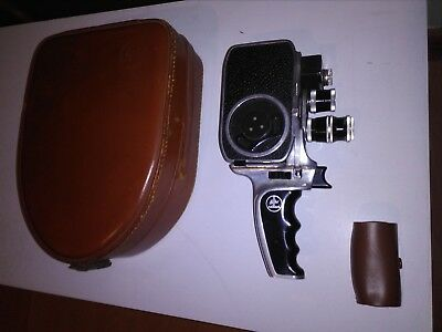 Bollex Paillard vintage B8SL 8mm movie camera with Case and micro lens case.