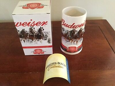 2011 Budweiser Holiday Stein Annual Clydesdale Christmas Beer Mug with certific