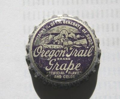 Oregon Trail Grape cork-lined soda bottle cap from Scottsbluff, NE/Greeley, CO