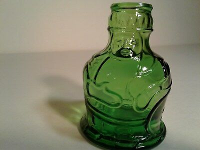 "VTG ORINGINAL POCAHONTAS HERBS Green  WHEATON BOTTLE 3.5"" h by 2.5"" dia EUC"