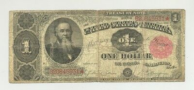 $1 Series 1891 Treasury (Coin) Note in nice circulated condition - no reserve