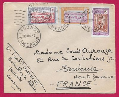 Yaounde Cameroun 1937 Toulouse France Lettre Cover