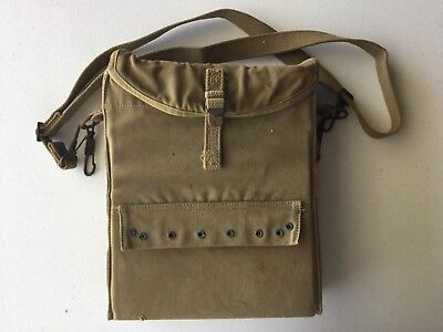WWII US Army Combat Medics Canvas Bag With Straps and Hooks