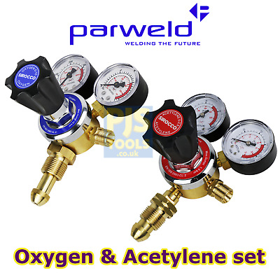 Parweld Oxygen Acetylene 2 gauge single stage gas welding cutting regulator set