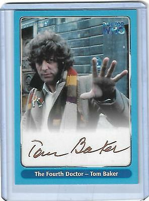 Doctor Who Series One A1 Tom Baker as Fourth Doctor Gold Variant Auto Card 2000