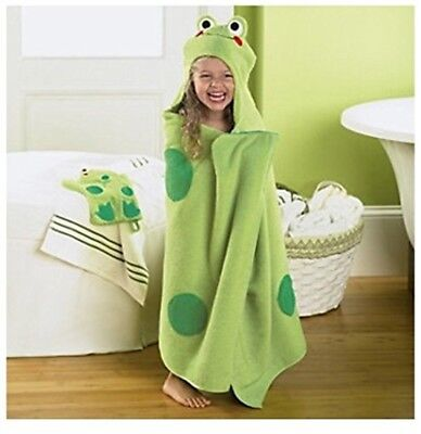 Jumping Beans Frog Hooded Bath Towel, in Green FREE SHIPPING