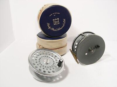 Vintage Hardy Marquis No 2 Salmon Fly Fishing Reel & Spare Spool  Retaining well