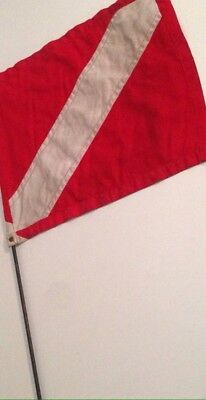 Vintage No Diving Flag Nautical Maritime Collectible