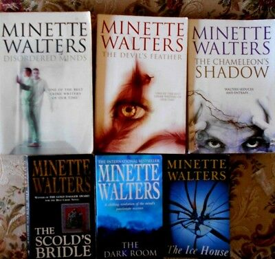 6 x MINETTE WALTERS: SCOLD'S BRIDLE/ICE ROOM/FEATHER/ICE HOUSE etc Bulk Murder
