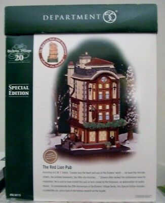 Dept 56 Dickens The Red Lion Pub ~ 58715 ~ 20th Anniversary Special Ed with Pin