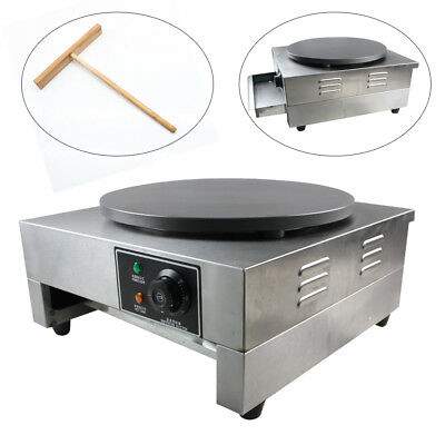"""Commercial Electric Crepe Maker 16"""" Pancake Making Machine Griddle  Donut Coffee"""