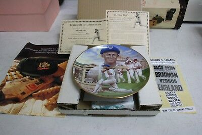 """Bradford China  """"452 Not Out"""".  Don Bradman Collectible Plate."""