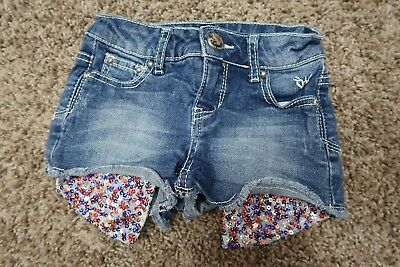 Justice Red, White & Blue Sequin Shorts Sz 7 Slim