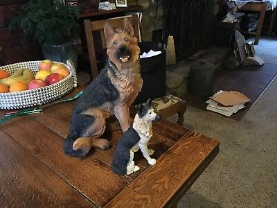 German Shepherd Dog Pair Large & Small for Air Plants Decoration