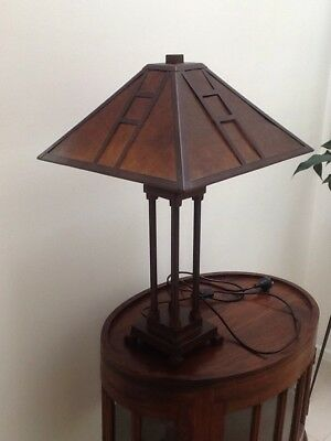 Unique & Rare Art Deco Metal Mica Lamp