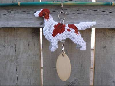 Irish Red & and White Setter dog crate tag or hang anywhere pet sign ornament