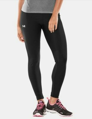 Women's UNDER ARMOUR M Compression Black Running Fitness Tights Pants Leggings