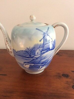Antique Hand Painted Teapot - JAPAN
